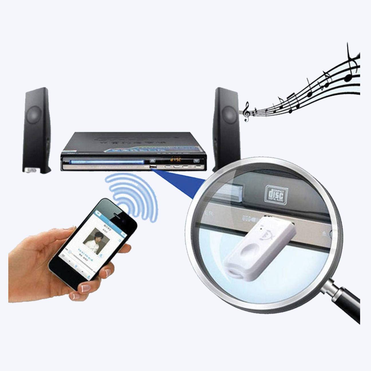 USB Dongle Bluetooth Receiver