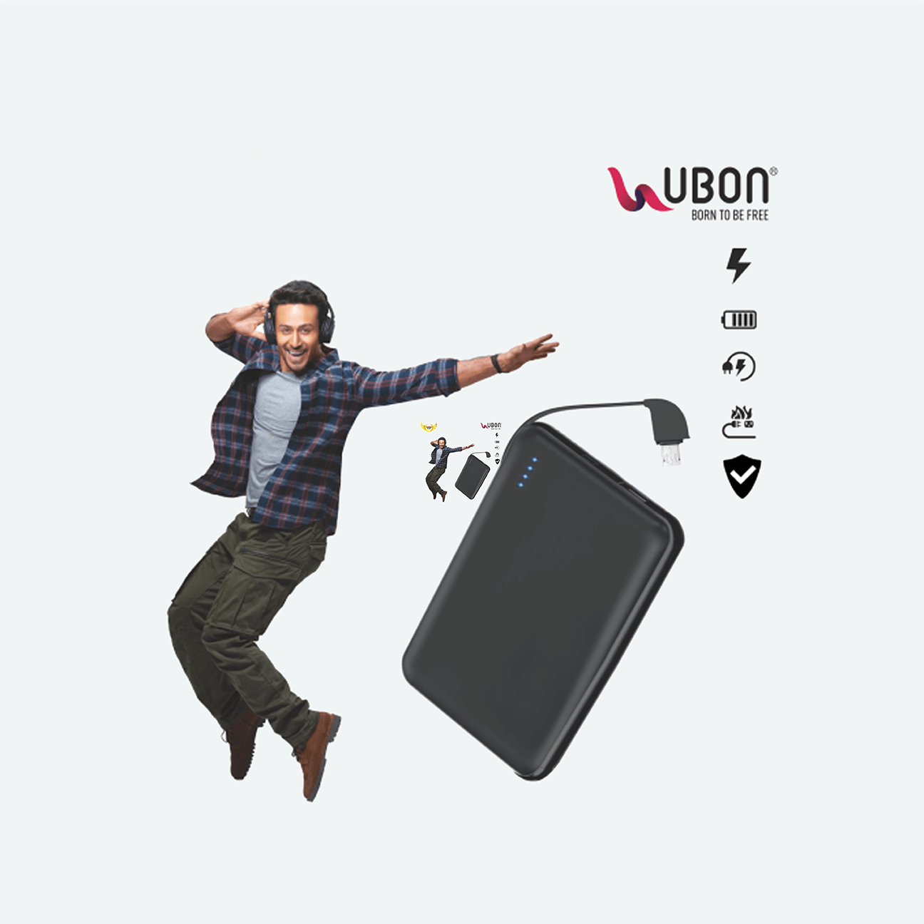 Ubon PB-X15 Mobile Power Bank  Built-in 5000mAh